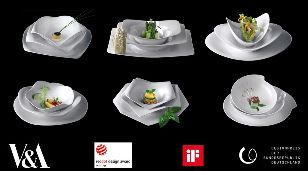A La Carte Porcelain Dining Collection. Des: Platt&Young Production: Rosenthal, Germany
