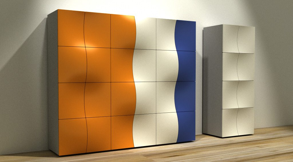 Blister Cabinet System Des: Platt&Young. Production: Driade, Italy