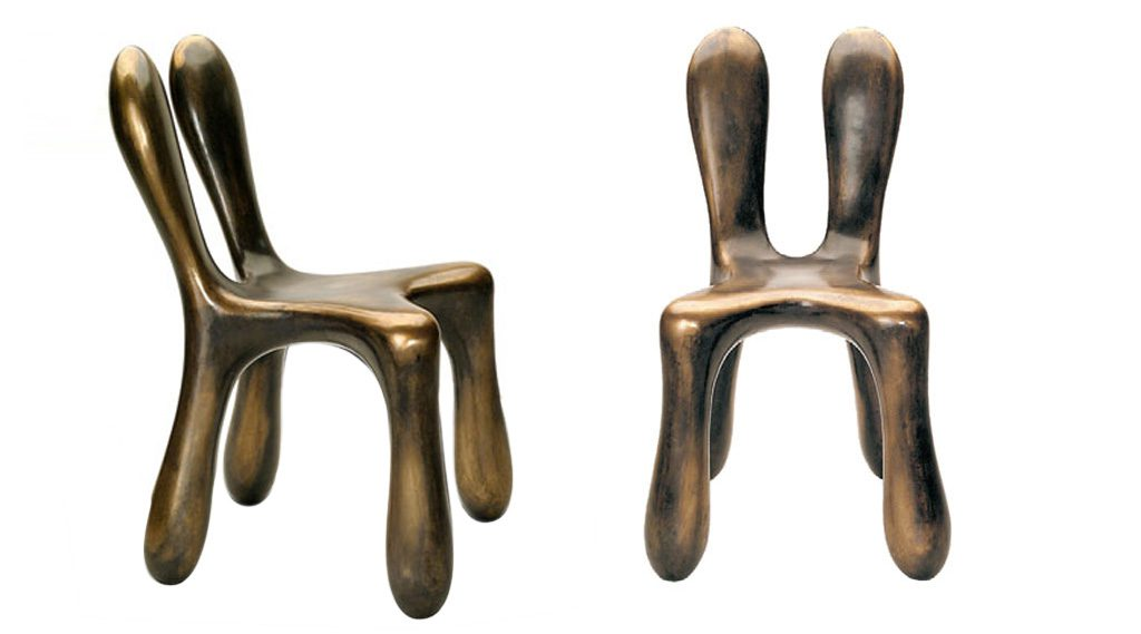 Chromosome Chair in Cast Bronze. Des: Platt&Young. Production: Sawaya&Moroni, Italy
