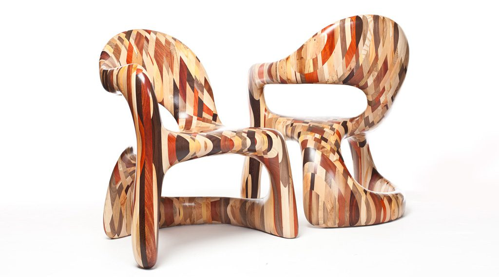 Corsican Left/Right Handed Mixed Hardwood Chair. Production: YSP UK