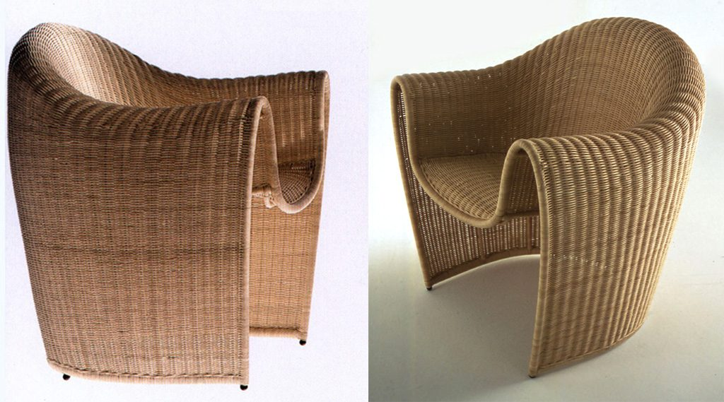 King Tubby Rattan Armchair. Des: Platt&Young. Production: Driade, Italy