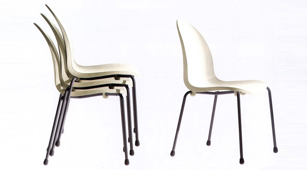 Lanceolata Stacking Chair. Des: Platt&Young. Production: Driade, Italy