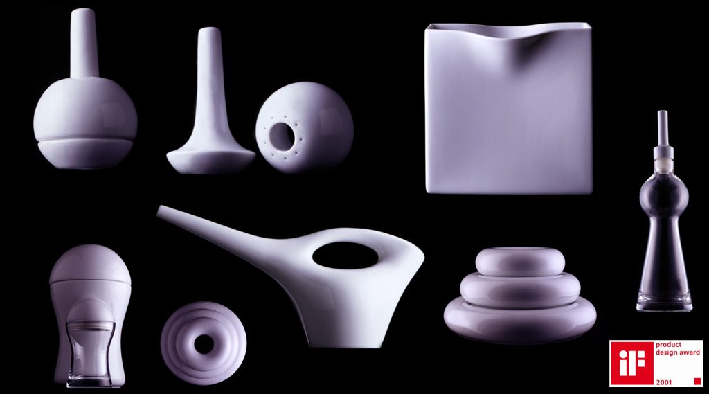 TableWear Porcelain Gift Objects. Des: Platt&Young. Production: Rosenthal, Germany