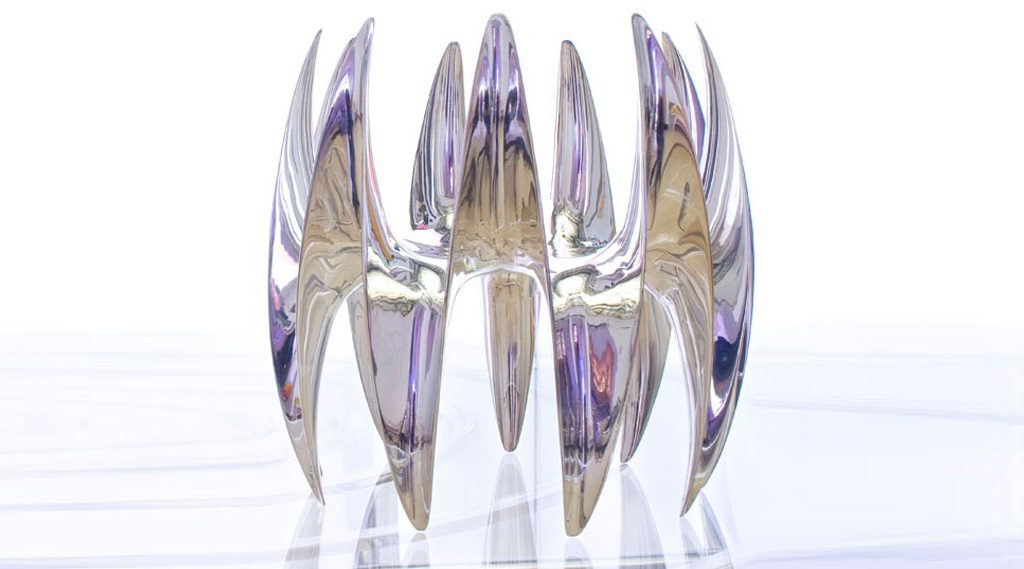 Wavy Fruit Bowl Streling Silver. Des: Platt&Young. Production: Sawaya&Moroni, Italy