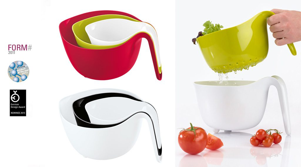Mixxx Nesting Kitchen Bowls. Production: Koziol, Germany